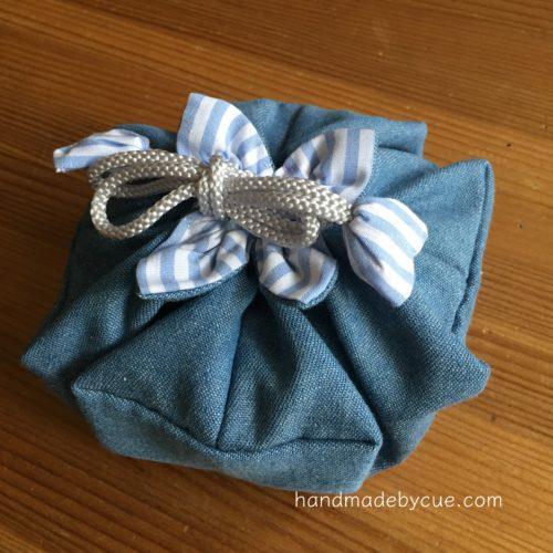 手縫いで作る巾着袋、簡単かわいい使いやすいのでおすすめ